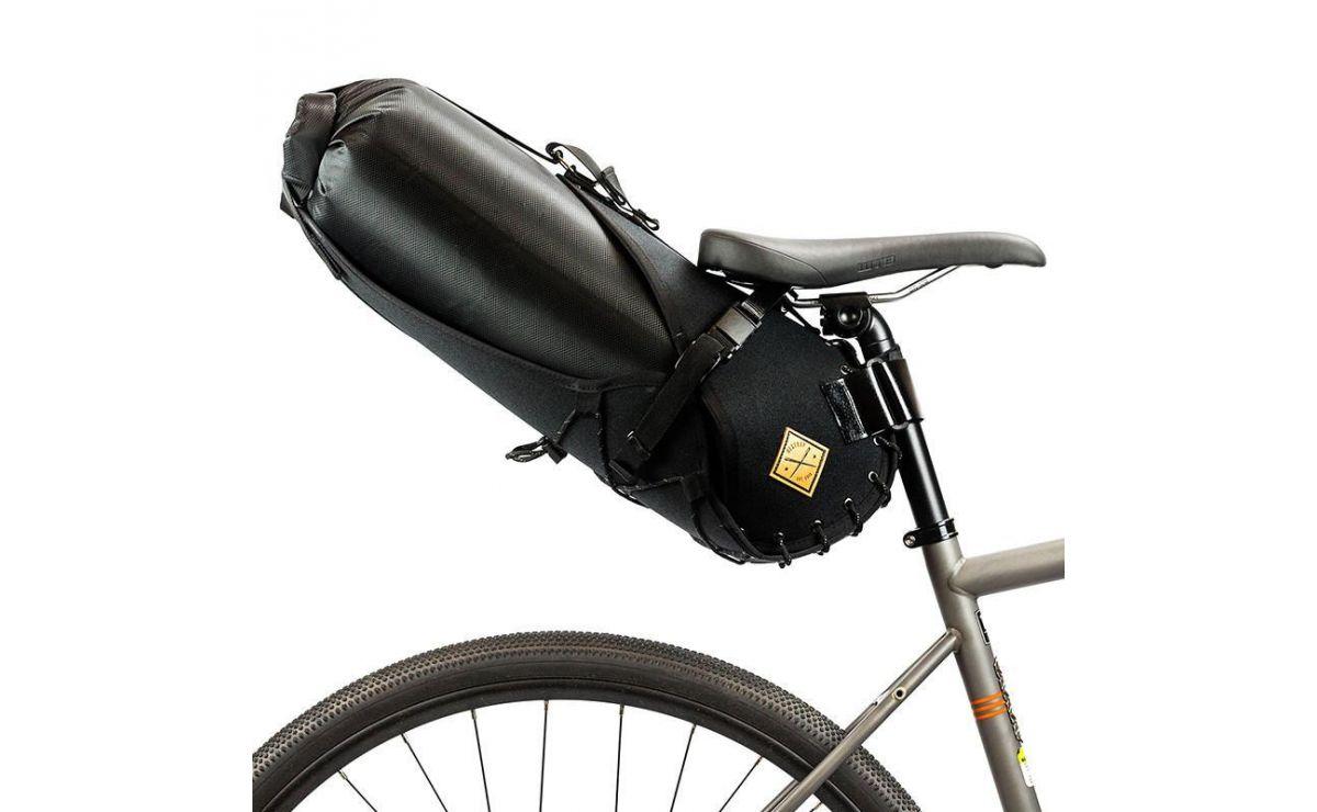 Restrap Small Saddlebag with dry bag black/orange 14L
