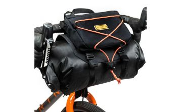 Restrap Bar Bag Holster with 14L Dry Bag and Food Pouch black M